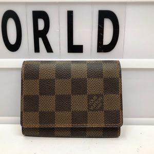 Louis Vuitton cartes vista Damier Ebene Card Case